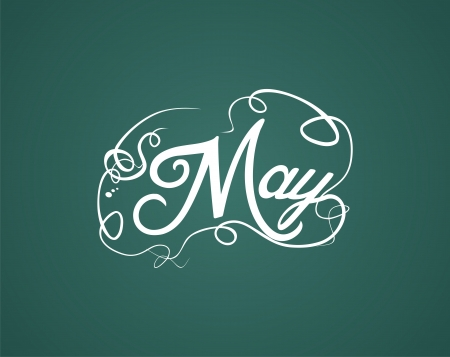 may hand lettering Illustration