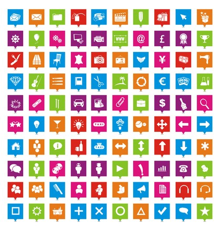 100 square pointers Vector