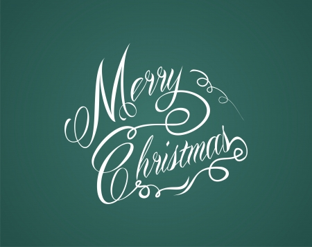 type lettering: merry christmas hand lettering