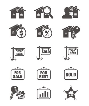 real estate silhouette icon Stock Vector - 24712632