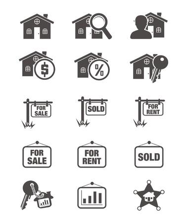 real estate silhouette icon Stock Vector - 24712632