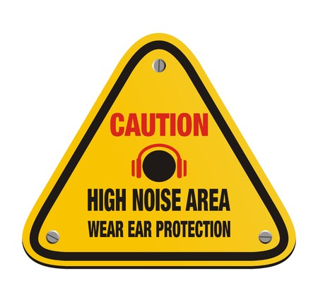 caution high noise area - triangle sign Vector