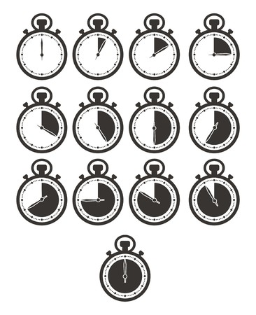 timer icon sets - stop watch Illustration