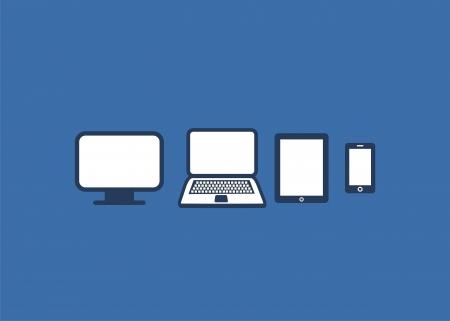 multiplatform illustratie - vlakke stijl