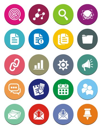 SEO round icon sets Stock Vector - 24769740