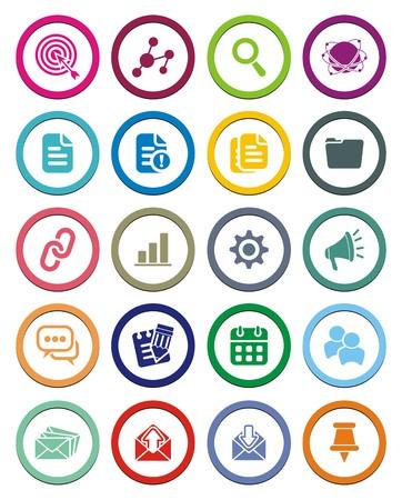 SEO circle icon sets Stock Vector - 24766784