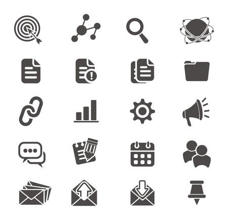 microblogging: SEO icon sets