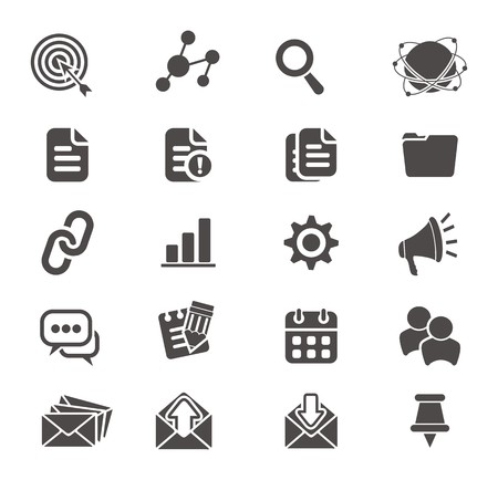 SEO icon sets Stock Vector - 24766783