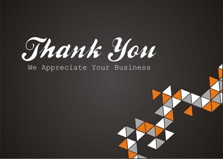 dank u - we waarderen uw bedrijf Stock Illustratie