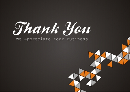 thank you note: thank you - we appreciate your business Illustration