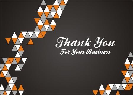 dank u voor uw bedrijf Stock Illustratie