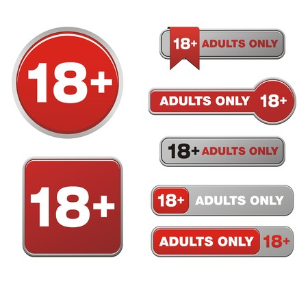 18 plus  for adults only button sets