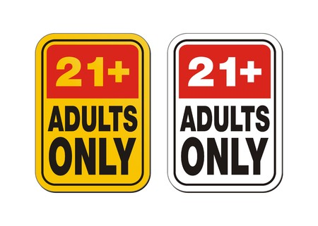 21 plus  for adults only signs Vector