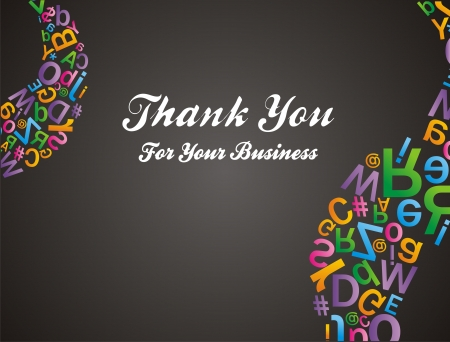 alfabet pattern - thank you for your business Vector