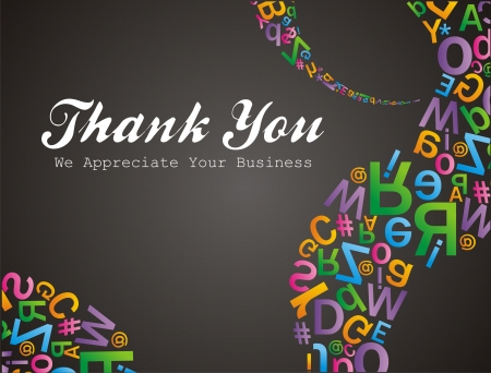 alfabet pattern thank you we apreciate your business Vector