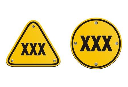 xxx signs Vector