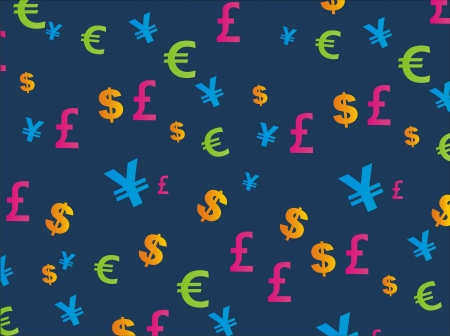 currency seamless pattern Vector