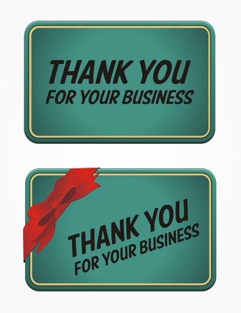 thank you for your business card Vector