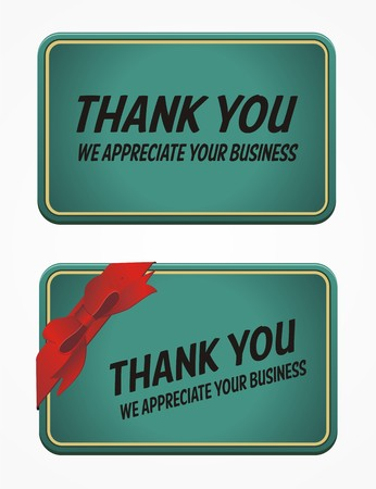 business card - thank you for your business Vector