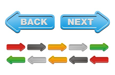 next and back buttons - arrow buttons
