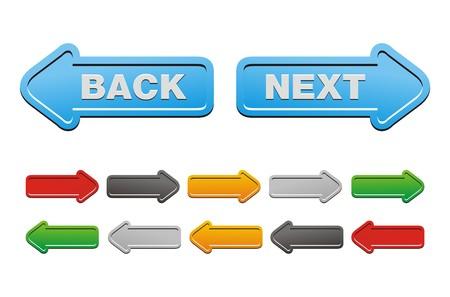 Siguiente y Atrás botones - Botones de flecha