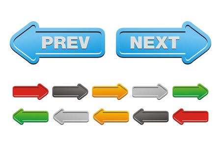 prev and next buttons - arrow buttons Illusztráció
