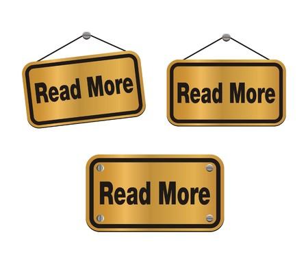 continuation: read more - bronze signs Illustration