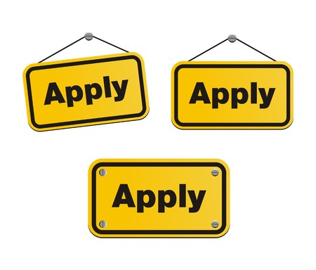 apply: apply - yellow signs Illustration