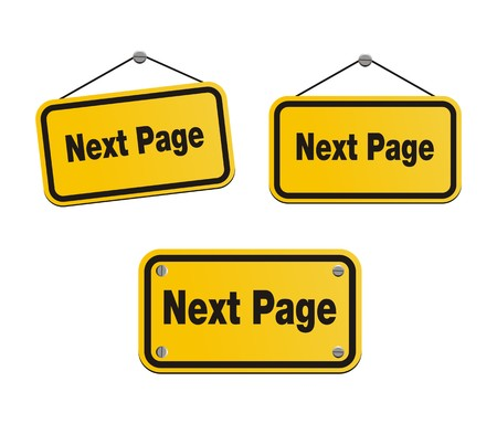 next page - yellow signs Vector