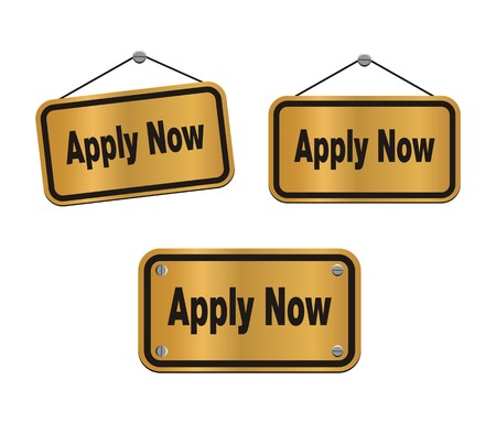 apply now - bronze signs