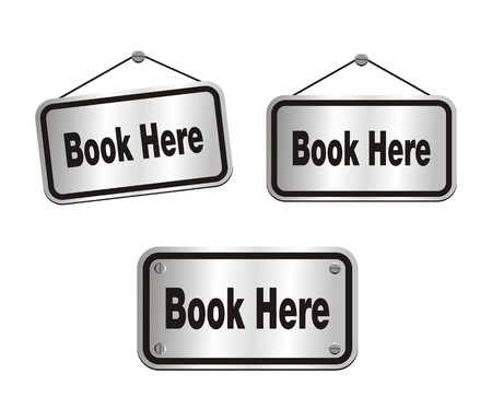 reservation: book here - silver signs Illustration