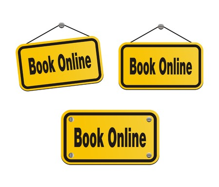 submit: book online - yellow signs