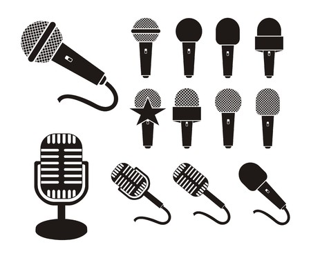 microphone silhouette Illustration