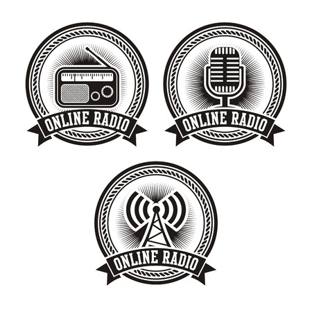 newscast: online radio badges