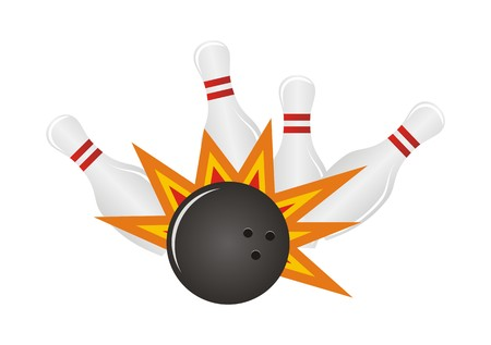 ten pin bowling: bowling illustrations Illustration
