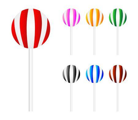 licorice sticks: colourful lollipop