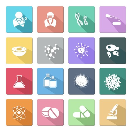 biotechnology flat icon with shadow Vector