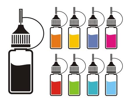 colorful e-liquid
