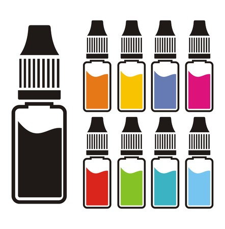 colorful liquid sets