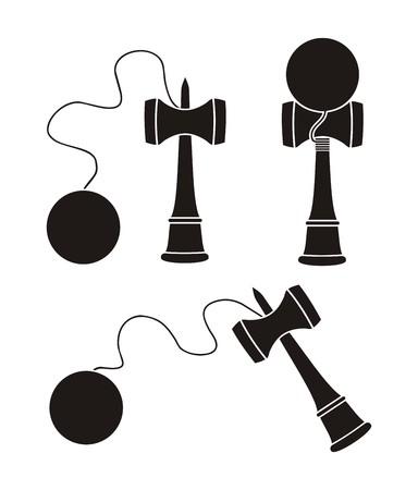 kendama silhouette Illustration