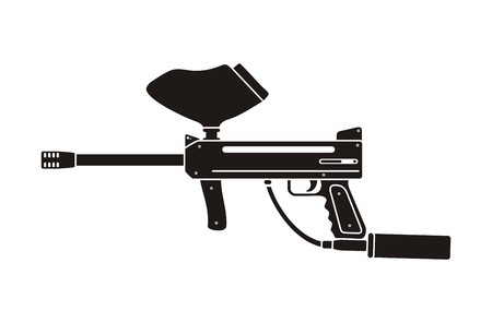pistolet de paintball silhouette