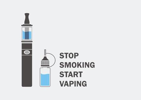 stop smoking start vaping  イラスト・ベクター素材