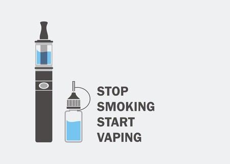 stop smoking start vaping Ilustrace