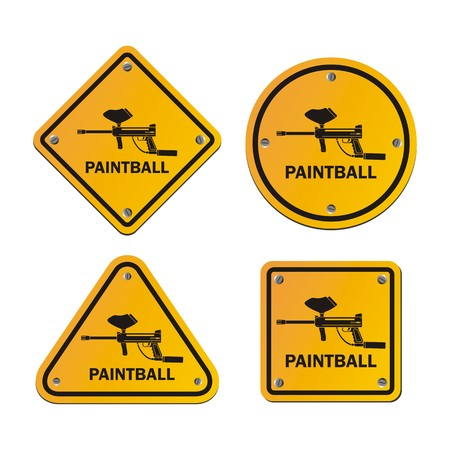 paintball signs Vector