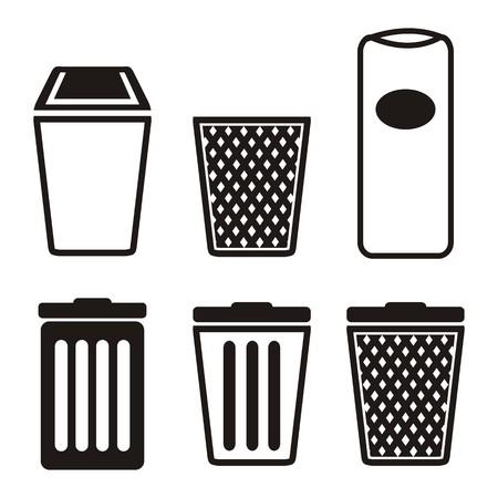 trashing: trash can icon sets