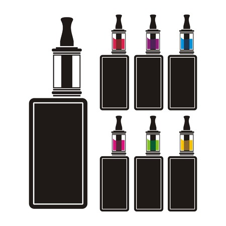 e cigarette: vaping device - colorful liquid