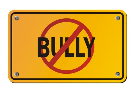 intimidation: stop bully - yellow signs