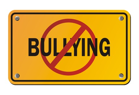 intimidation: stop bullying - yellow signs