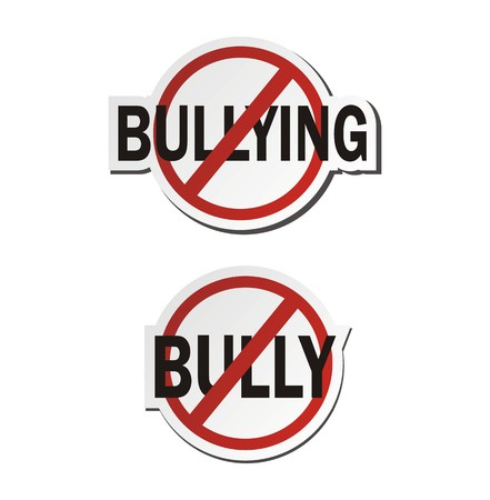 intimidating: stop bullying, stop bully - sticker sets Illustration