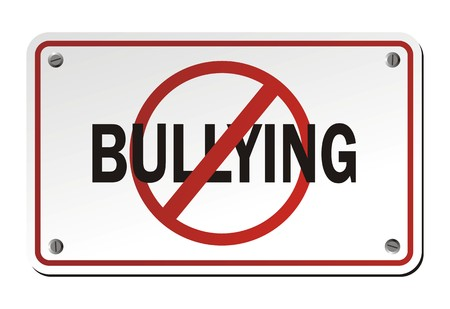 intimidating: stop bullying signs